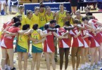 Australia and England's netball teams  Credit: Naparazzi/Flickr
