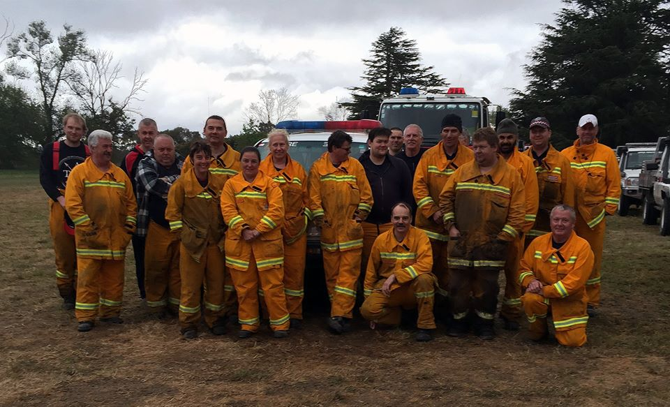 Darren Johnson and the District 13 Strike Team at Lancefield, October 12 2015.
