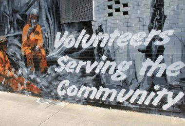 A mural at the Upper Ferntree Gully Fire Station.