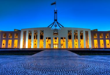 Parliament House at early evening, Tim McRae